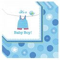 Servietten Babyparty, Shower with Love Boy