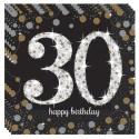 Geburtstagsservietten zum 30. Geburtstag, Sparkling Celebration
