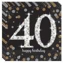 Geburtstagsservietten zum 40. Geburtstag, Sparkling Celebration