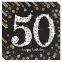 Geburtstagsservietten zum 50. Geburtstag, Sparkling Celebration