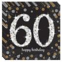Geburtstagsservietten zum 60. Geburtstag, Sparkling Celebration