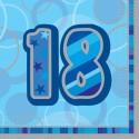 Geburtstagsservietten zum 18. Geburtstag, Blau