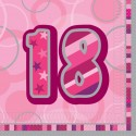 Geburtstagsservietten zum 18. Geburtstag, Pink
