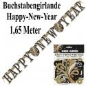 Silvester Dekoration, Buchstabengirlande, Letterbanner, Happy New Year