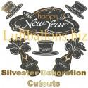 Silvester Dekoration Cutouts