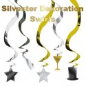 Silvester Dekoration Swirls