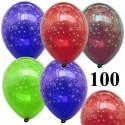 Luftballons Silvester Feuerwerk 100 Stück