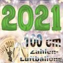 Zahlendekoration Silvester 2021, 1 Meter große Zahlen in Grün