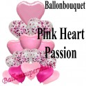 Luftballon-Bouquet, Pink Heart Passion