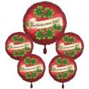 """Silvester-Bouquet mit 5 Folienballons """"Glückliches Neues Jahr!"""""""