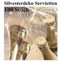 Silvester Servietten, Cheers New Year, 100 Stück
