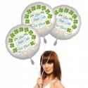 Silvestergrüße: Zum neuen Jahr viel Glück. 3 Helium-Luftballons