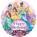Singender Ballon: Princess Happy Birthday