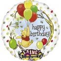 Singender Ballon: Winnie Pooh Happy Birthday