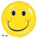Luftballon Smiley, Folienballon mit Ballongas