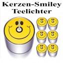 Smiley Teelichter-Kerzen