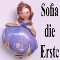 Sofia die Erste Luftballon. Großer Folienballon mit Ballongas