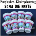 Sofia die Erste, Partybecher, 8 Stück