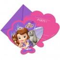 Sofia die Erste, Einladungskarten zum Kindergeburtstag, 6 Stück