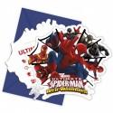 Spider-Man Web Warriors, Einladungskarten zum Kindergeburtstag, 6 Stück