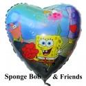 Luftballon SpongeBob, Schwammkopf, Folienballon mit Ballongas