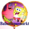 Luftballon SpongeBob, Schwammkopf, Squarepants, Folienballon ohne Ballongas