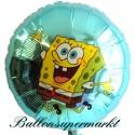 Schwammkopf Luftballon, SpongeBob, Folienballon mit Ballongas
