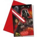 Star Wars Heroes, Einladungskarten zum Kindergeburtstag, 6 Stück