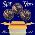 Kindergeburtstag mit Star Wars Luftballons, 3 Ballons aus Folie mit Helium