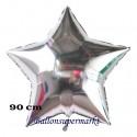 Sternballon Jumbo silber (ungefüllt)