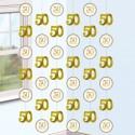 String Dekoration zur Goldenen Hochzeit, 50 Happy Years
