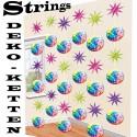 Strings Disco Party, 70er Jahre Disco-Fever, 6 Stück Deko-Ketten zum Hängen