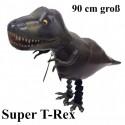 Dinosaurier, Super T-Rex Airwalker Luftballon aus Folie mit Helium