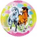 Pferde Partyteller, 8 Stück