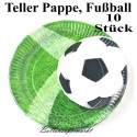 Pappteller Fußball 10 Stück Set