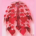 Hanging Cascade Decoration Hearts and Flowers