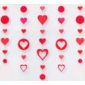 Hanging Glitter Hearts