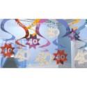 Geburtstag Dekoration Swirls 40