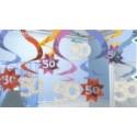 Geburtstag Dekoration Swirls 50