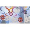 Geburtstag Dekoration Swirls 60