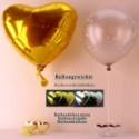 Ballongewicht Herzen Silber