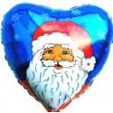 """Weihnachtsdekoration, Weihnachtsballons, Weihnachts-Mini Set  Nikolaus/blau """"10"""""""