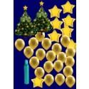 Weihnachten Luftballons, Weihnachtsdekoration, Weihnachts-Super-Maxi Set 2