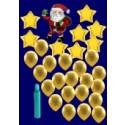 Weihnachten Luftballons, Weihnachtsdekoration, Weihnachts-Maxi Set 4