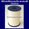 Ballonband, Luftballonbänder 1 Rolle 500 m, Elfenbein