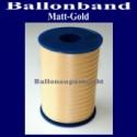 Ballonband, Luftballonbänder 1 Rolle 500 m, Matt-Gold