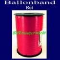 Ballonband, Luftballonbänder 1 Rolle 500 m, Rot