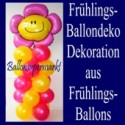 Ballondekoration-Frühlingserwachen, Dekoration aus Frühlingsballons