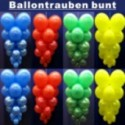 Ballontrauben mit Luftballons 10 Stück Bunt