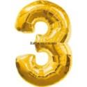 "Folienballondeko ""3"" (heliumgefüllt)"